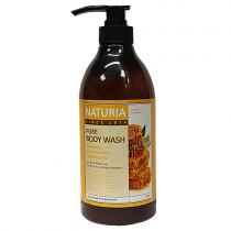 Гель для душа Naturia с экстрактами меда и белой лилии, 750мл