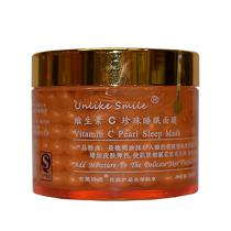 Жемчужная несмываемая маска с биозолотом и витамином С (против морщин), 180г