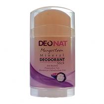 Дезодорант-кристалл DEONAT Экстракт Мангостина (стик, плоский, вывинчивающийся), 100г