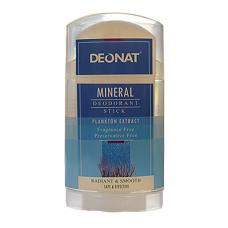 Дезодорант-кристалл DEONAT с экстрактом планктонных микроорганизмов (стик, плоский, вывинчивающийся), 100г
