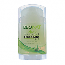 Дезодорант-кристалл DEONAT Сок АЛОЭ (стик , плоский, вывинчивающийся), 100г