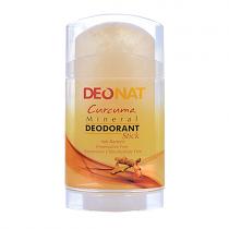 Дезодорант-кристалл DEONAT Экстракт Куркумы (стик, плоский, вывинчивающийся), 100г