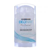 Дезодорант-кристалл DEONAT цельный (стик, плоский, вывинчивающийся), 100г