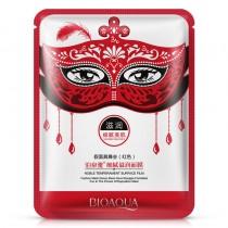 "BioAqua Masquerade Mask тканевая маска для лица ""Маскарад"" (красная) сияние и шелковистость, 30мл"
