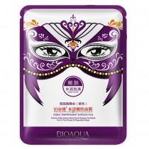 """Bioaqua Masquerade Mask тканевая маска для лица """"Маскарад"""" (фиолетовая) увлажнение и омоложение, 30мл"""