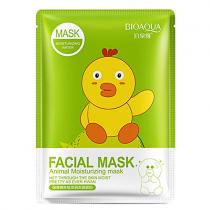 BioAqua Fasial Animal Mask маска с эссенцией коллагена и граната, 30г