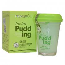 Маска для лица MENGKOU Facial Pudding Зеленый чай (очищающая, противовоспалительная), 100г