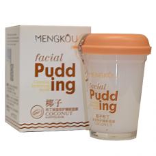Маска для лица MENGKOU Facial Pudding Кокосовый орех (мощное питание и удержание влаги внутри), 100г