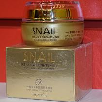 Крем с фильтратом улитки и авокадо One Spring Snail Repair & Brithening, 50г