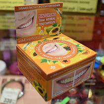 Binturong Papaya Thai Herbal Toothpaste  Круглая зубная паста с экстрактом папайи, 33 гр.