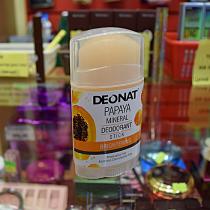 """Дезодорант-Кристалл """"ДеоНат"""" с экстрактом папайи, с вывинчивающийся (twist-up), 100 гр."""