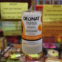 "Дезодорант-Кристалл ""ДеоНат"" с экстрактом папайи, стик, 40 гр."