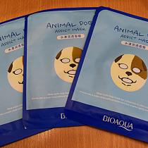 Маска для лица Собака увлажняющая BIOAQUA Animal Dog Mask, 30г