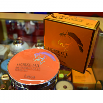 Пудра компактная c лошадиным маслом для сухой кожи, с солнцезащитным фактором, с запасным блоком Leiya SPF50 PA+++, 13, 14 гр.+ 14 гр.