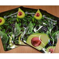 Питательная тканевая маска для лица с экстрактом авокадо ZOZU, 30 гр.