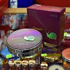 Leiya Компактная пудра с экстрактом королевской улитки с запасным блоком, 14 гр. + 14 гр., SPF 50 / PA ++