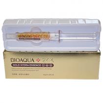 Эссенция с частицами 24К золота и гиалуроновой кислотой Bioaqua Gold Hydra Essence, 10мл
