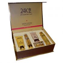 """Омолаживающий набор по уходу за лицом с Био-золотом """"BioAqua"""" 24K Gold Skin Care (5 предметов), 1шт"""